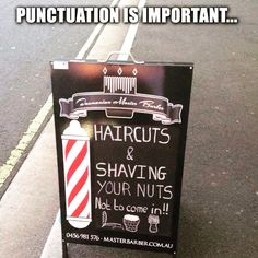 Tuesday is punctuation day! #funnysigns #tuesday #grammar #fastsigns #snellville