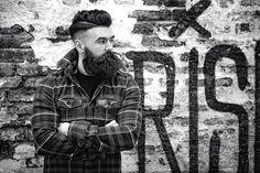 full thick dark beard and mustache undercut hair beards bearded man men mens' style urban lumberjack handsome #beardsforever