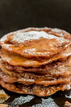 These Mexican Buñuelos are a traditional holiday dish! They're sweet and crispy tortilla-like fritters drizzled with a spiced brown sugar syrup. Mexican Sweet Breads, Mexican Bread, Mexican Snacks, Mexican Dessert Recipes, Mexican Dishes, Mexican Meals, Mexican Bunuelos Recipe, Brown Sugar Syrup, Mexican Cooking