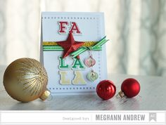 Lovely Christmas card making inspiration. Design by Megann Andrew #americancrafts #cardmaking #christmascards.