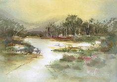 Lazy River Watercolour