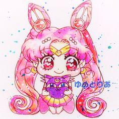 Arte Sailor Moon, Sailor Moon Fan Art, Sailor Chibi Moon, Sailor Moon Crystal, Moon Sketches, Pink Moon, Sailor Scouts, Moon Art, Cool Artwork