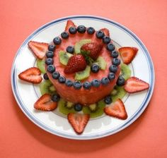 watermelon cake with fruit | The birthday person shall remain nameless, but, suffice it to say that ...