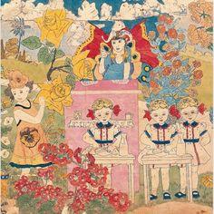 Untitled (Idyllic Landscape with Children) (detail) Henry Darger