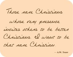 ...that rare Christian.