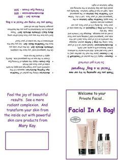 Facial in a bag!