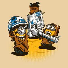Star Wars and Despicable Me mashup t-shirt Despicable Jawas by djkopet no available at Aplentee.com