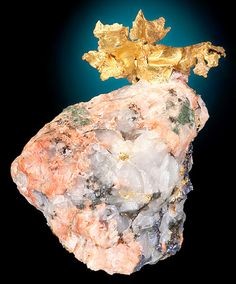 Gold on pink granite from Canada