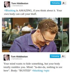 Tom Hiddleston. Via Twitter.<--I love this man and this is one of the many reasons why