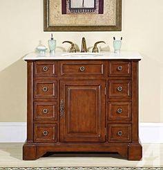 Marble Stone Top Bathroom Sink Vanity Cabinet - G890 - 100+ Styles