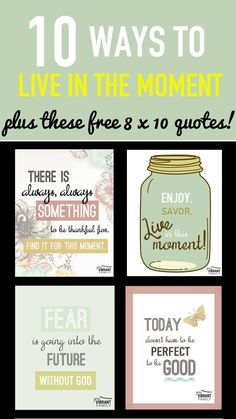 How can we enjoy life--and truly live in the moment--when we're in a survival-mode season? Learn how to stop obsessing; How to find peace in the chaos; plus new habits that bring happiness and light into crazy-busy moments. And get (4) FREE 8 x 10 Printable Quotes for your home!