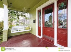 Image result for red and green house
