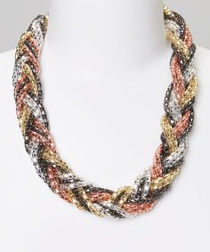 Want to make a statement through fashion? Bold braids are always a great style declaration. This hip necklace will add an edgy exclamation point to what any outfit is saying.