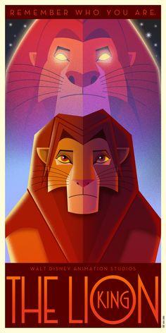 The Lion King Art Deco poster by DavidGFerrero on DeviantArt