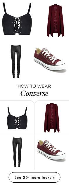 """Untitled #1461"" by karinacabrera on Polyvore featuring WithChic, Rick Owens and Converse"