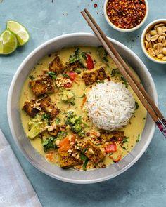 Vegan Dinner Recipes, Veggie Recipes, Whole Food Recipes, Cooking Recipes, Healthy Recipes, Chicken Curry Recipes, Thai Vegetarian Recipes, Vegan Food Recipes, Veggie Lunch Ideas