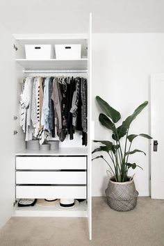 Hideaway Storage Ideas for Small Spaces – Wardrobe Storage Ikea Pax Wardrobe, Wardrobe Storage, Wardrobe Closet, Wardrobe Ideas, Open Wardrobe, Clothing Storage, Closet Storage, Bedroom Furniture, Bedroom Decor