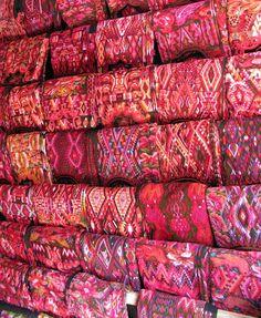 Handmade textiles at Chichicastenango Market, Guatemala