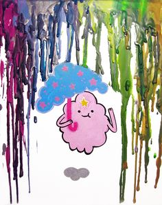 #adventuretime #LSP  What the Lumps--- Melted Crayon Art by MayhemHere.deviantart.com
