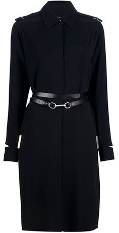 Victoria Beckham Belted Coat #style #coat #black