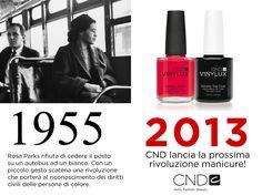 """Campagna """"Lancio CND Vinylux, the weekly polish"""":  CND Vinylux: abbiamo reinventato lo smalto. Una rivoluzione creata da donne, per le donne. www.cndworld.it www.cndshellac.it"""