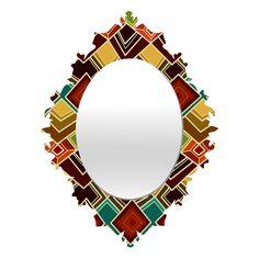 Sharon Turner Raffia Baroque Mirror
