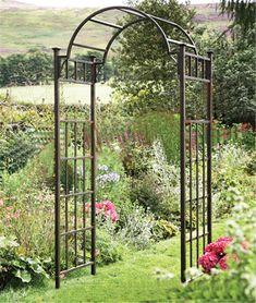 Continental ferro jardim arcos porta do pátio jardim decoração de flores de seda…
