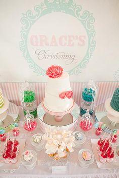 Christening table