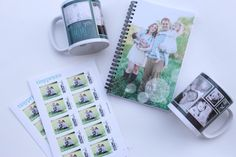 Tiny Prints personalized stamps, mugs and notebooks from Meg On The Go