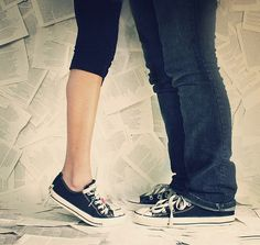 Converse ALWAYS. oh yeah, and the love. The love is cute too.