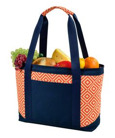 Look what I found on #zulily! Orange Diamond Large Insulated Cooler Tote #zulilyfinds