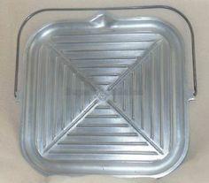 Guardian Service Aluminum Silver Seal Griddle Grill Skillet Pan Platter + Brush
