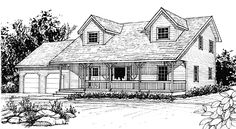 CapeCod House Plan chp-1796 at COOLhouseplans.com