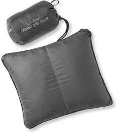 Stowaway Down Pillow with DownTek: Camping Pillows and Bag Liners   Free Shipping at L.L.Bean
