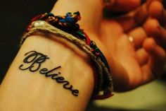 Cute Wrist Quote Tattoos for Girls - Black Wrist Quote Tattoos for Girls