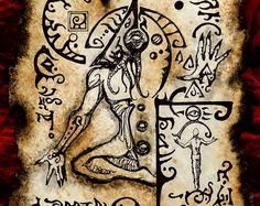 Items similar to CHAOS SORCERER cthulhu larp Necronomicon Fragment occult magick on Etsy Hp Lovecraft, Lovecraft Cthulhu, Larp, Call Of Cthulhu, Necronomicon Lovecraft, Art Sombre, Lovecraftian Horror, Satanic Art, Dark Artwork