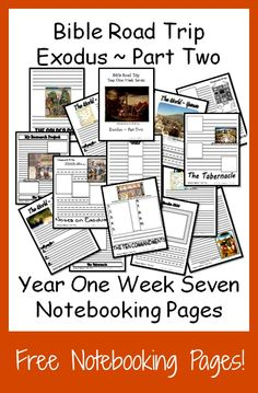 {Free Printable Notebook Pages} Bible Road Trip ~ Year One Week Seven