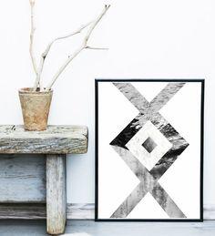 Scandinavian art tree print abstract art print tree for Minimal art zusammenfassung