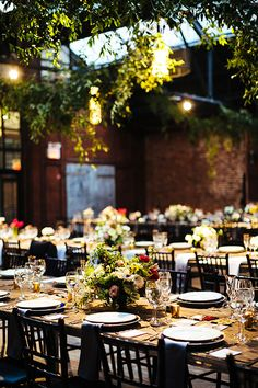 Brides: Rustic and Modern New York City Wedding at 26 Bridge in Brooklyn: Photos