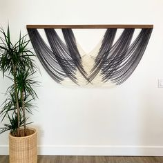 Dip dye modern fiber art tapestry, wall hanging Best Picture For fiber art For Your Taste You are looking for … String Wall Art, Diy Wall Art, Tapestry Wall Hanging, Diy Art, Nail String, Wall Decor, Wall Hangings, Living Room Furniture Sale, English Country Decor