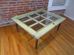 Windowpane End Table! To match our old door coffee Table!