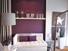 Try adding gold glaze to plum paint for unique wall color