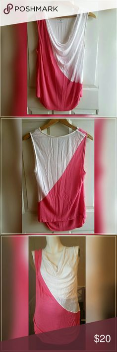 """New York & Company Sleeveless Top Gently worn. Like 🆕. 100% Rayon. Stretchy material. Scoop neckline.  Colors: coral & White.  Measurements:  Large = 12/14 Bust 39"""" - 40.5"""" Waist 31.5"""" - 33""""  Inseam length 16"""" Length 25""""   Get an additional 30% off when purchasing 3 or more items using the bundle feature. Always willing to negotiate. 🌼🌹🌼🌹🌼🌹🌼🌹🌼🌹🌼🌹🌼🌹 New York & Company Tops"""