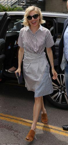 Cute striped dress.