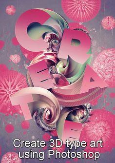 Create 3D type art using Photoshop