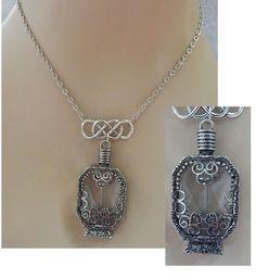 Silver Celtic Glass Vial Pendant Necklace Handmade Adjustable Accessories  #Handmade http://www.ebay.com/itm/-/151720748332?