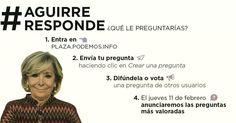 Por fin la ciudadanía tiene voz y podrá poner contra las cuerdas a Aguirre. #AguirreResponde