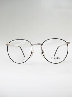 Vintage Round Eyeglasses Mens Womens Unisex by OliverandAlexa