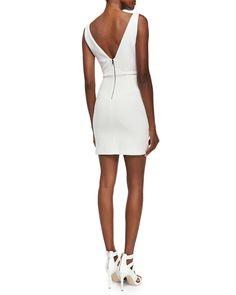 V-Neck Sleeveless Fitted Dress