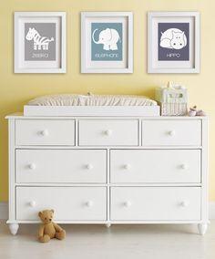 Baby's First Art Print - Elephant 8x10 - Baby Nursery Print, Childrens Art, Kids Room Decor, Nursery Decor, Kids Decor, Safari Animals. $14.95, via Etsy.